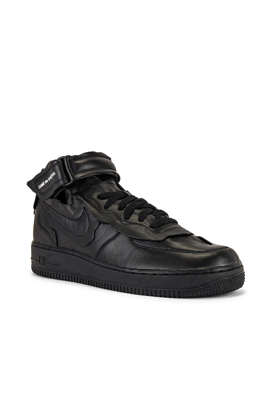 Image 1 of Comme Des Garcons Homme Plus Nike Cut Off Air Force 1 Sneaker in Black