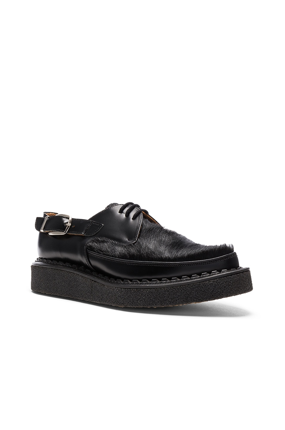 Image 1 of Comme Des Garcons Homme Plus Pony Hair George Cox Shoes in Black