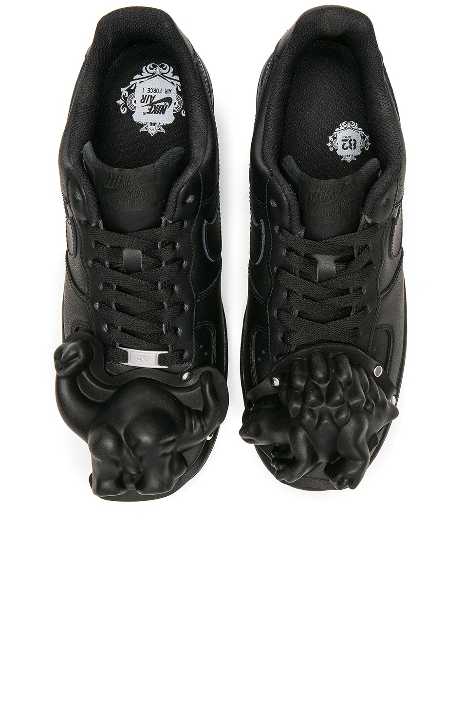 Image 1 of Comme Des Garcons Homme Plus Nike Air Force 1 CDG Custom in Black 60079b4e3
