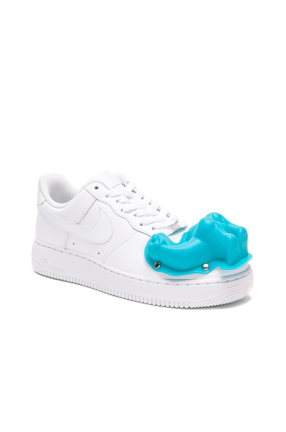 free shipping 648dd 63e14 Image 2 of Comme Des Garcons Homme Plus Nike Air Force 1 CDG Custom in White
