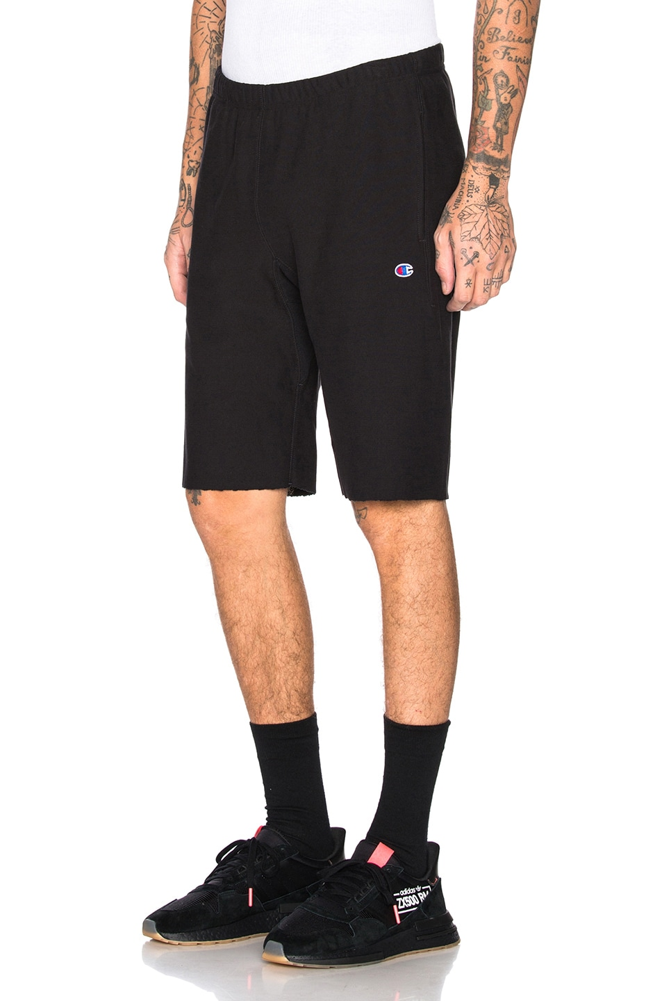 Image 1 of Champion Reverse Weave Champion Bermuda Shorts in Black