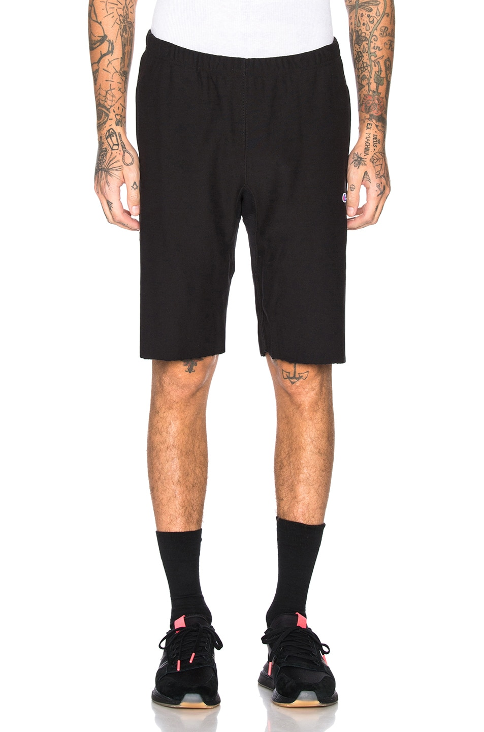 Image 2 of Champion Reverse Weave Champion Bermuda Shorts in Black