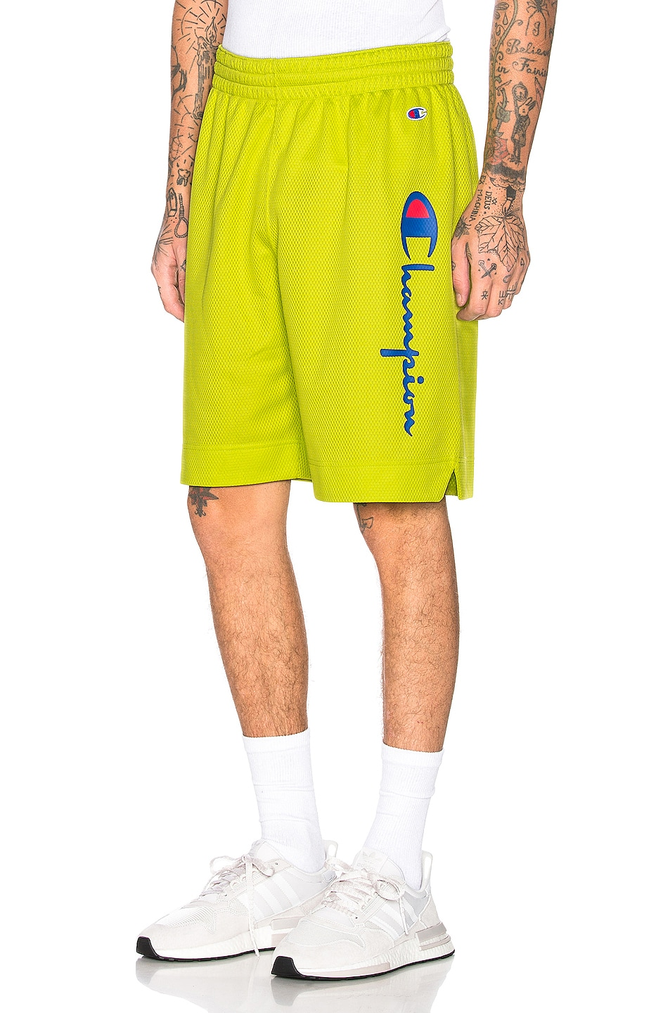 Image 1 of Champion Reverse Weave Champion Shorts in Green