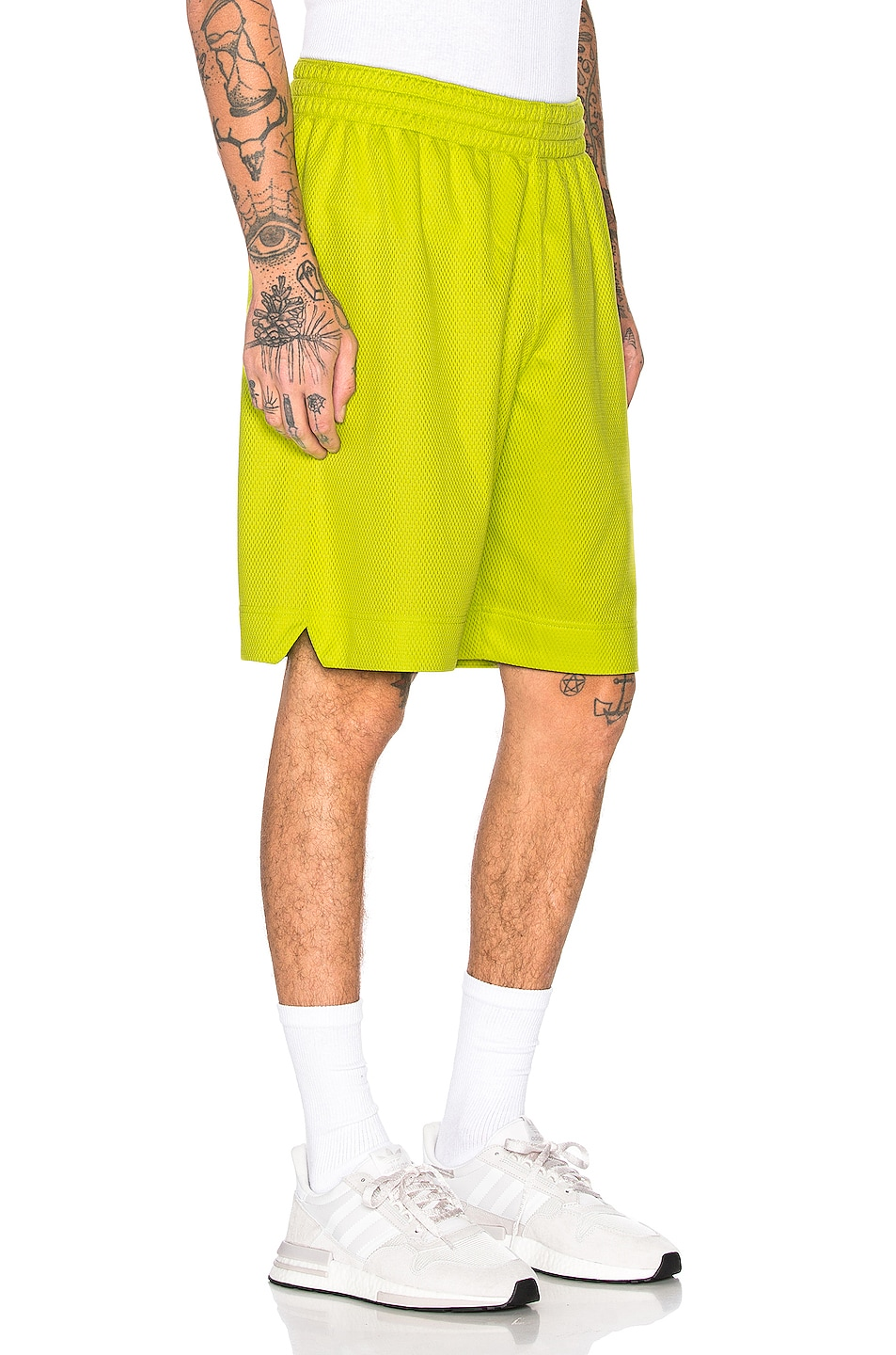 Image 3 of Champion Reverse Weave Champion Shorts in Green
