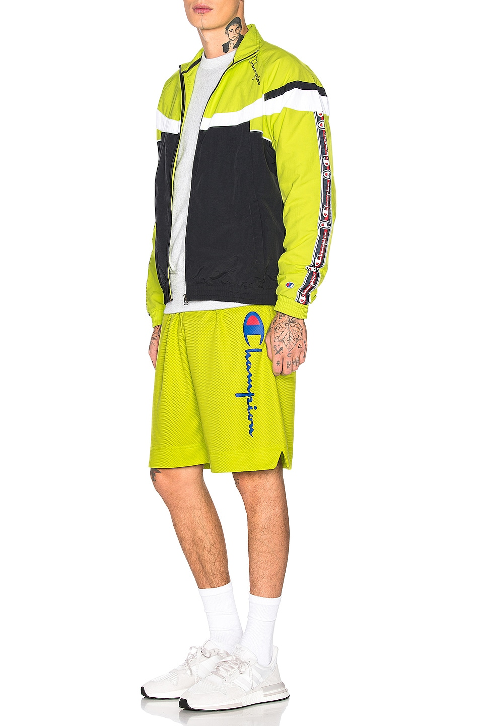 Image 5 of Champion Reverse Weave Champion Shorts in Green