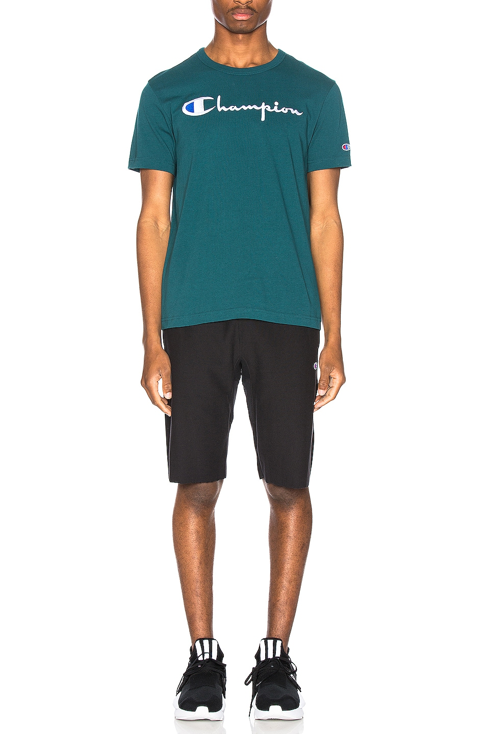 Image 5 of Champion Reverse Weave Bermuda Short in Black