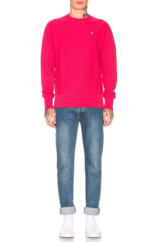 Image 4 of Champion Reverse Weave Champion Crewneck Sweatshirt in Aza