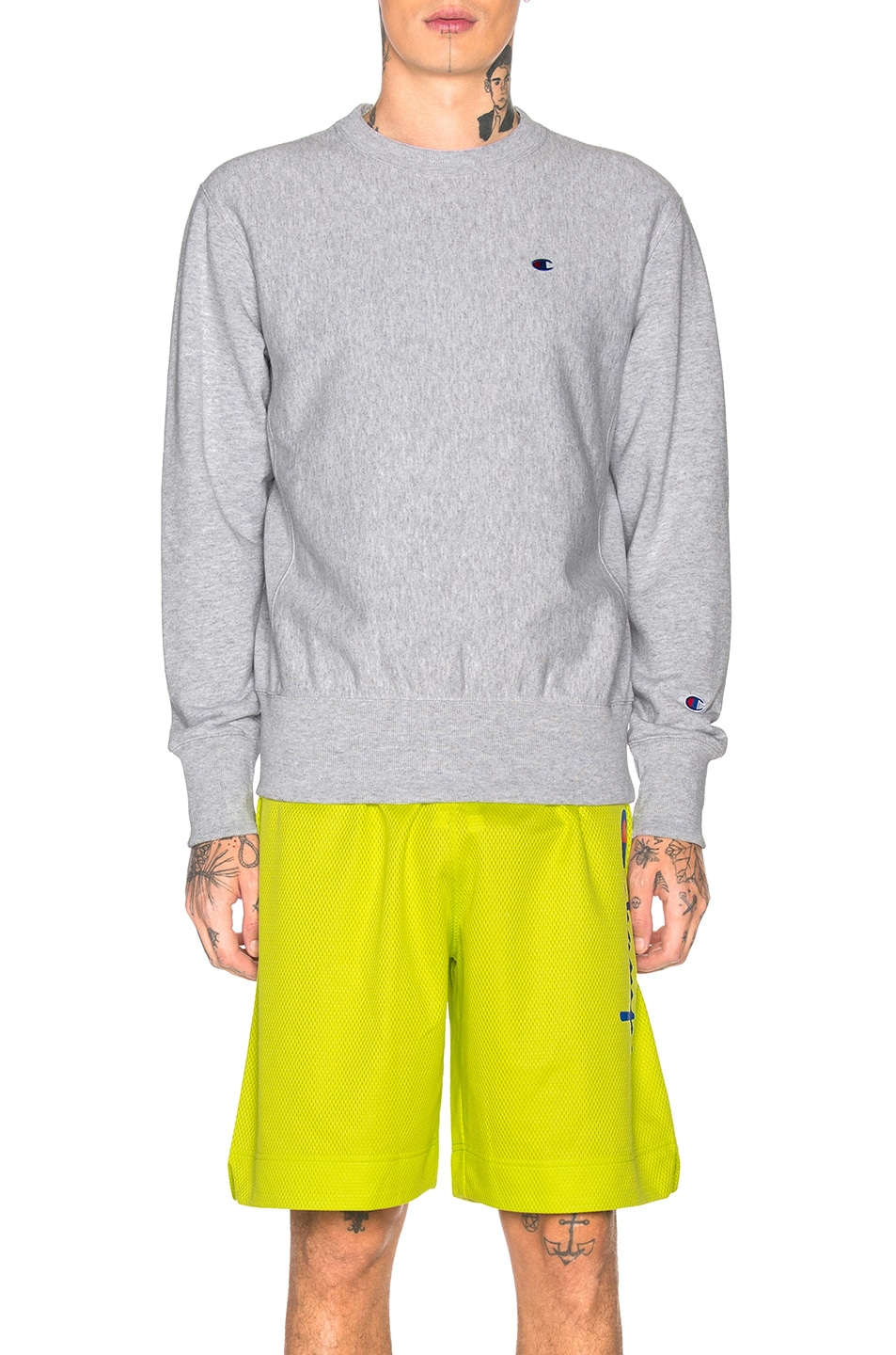 Image 1 of Champion Reverse Weave Champion Crewneck Sweatshirt in Grey
