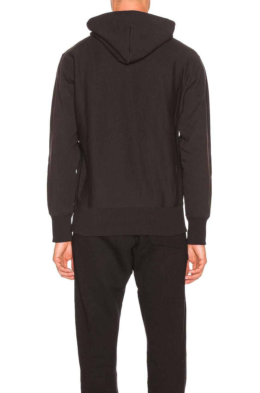 Image 3 of Champion Reverse Weave Champion Hooded Sweatshirt in Black