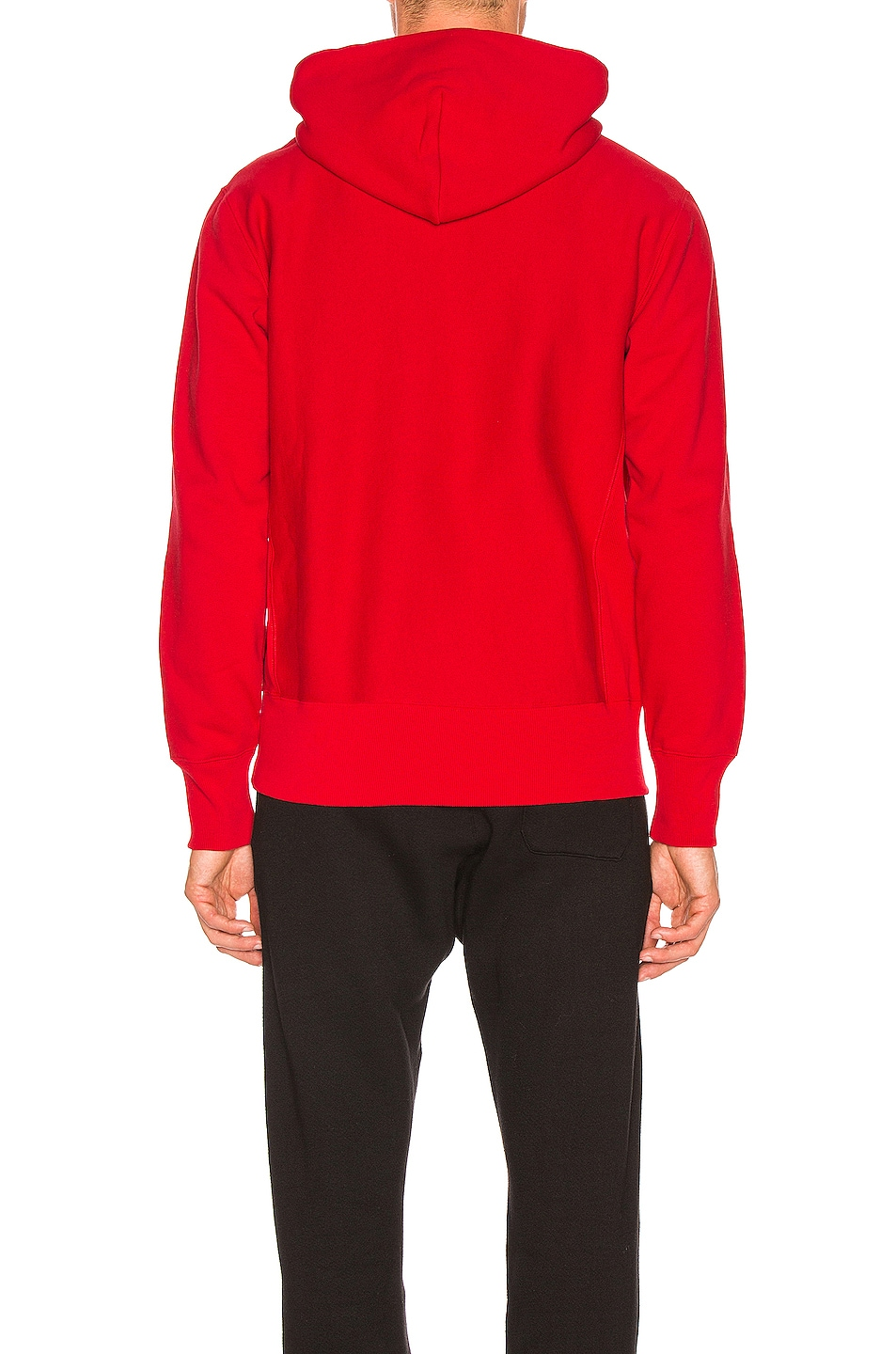 Image 3 of Champion Reverse Weave Champion Hooded Sweatshirt in Red
