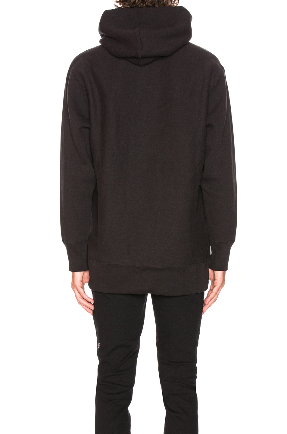 Image 3 of Champion Reverse Weave Oversized Hooded Sweatshirt in Black