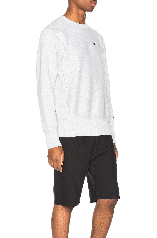 Image 2 of Champion Reverse Weave Small Script Sweatshirt in Grey
