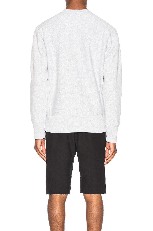 Image 3 of Champion Reverse Weave Small Script Sweatshirt in Grey