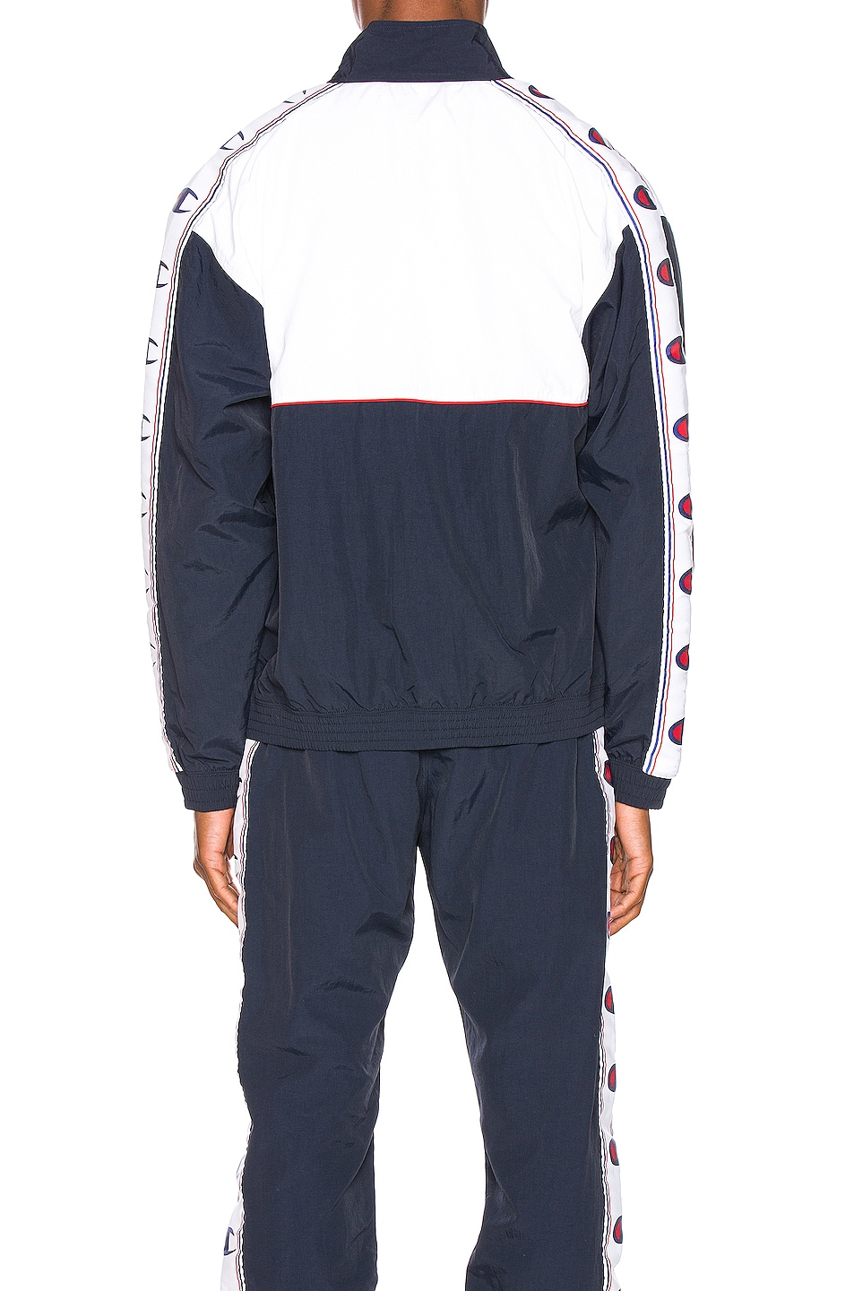 Image 5 of Champion Reverse Weave Full Zip Top in Navy & White & Red