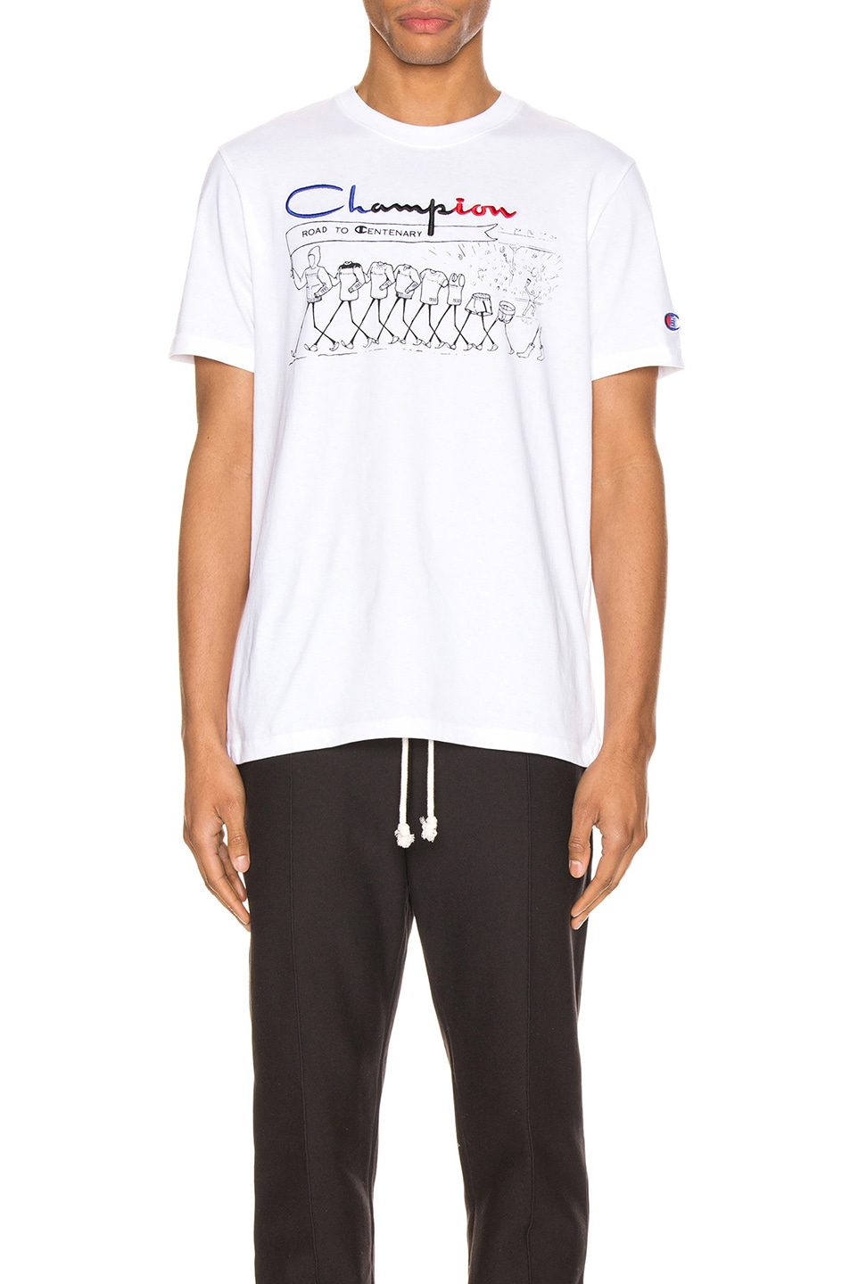 Image 1 of Champion Reverse Weave Centenary T-Shirt in White