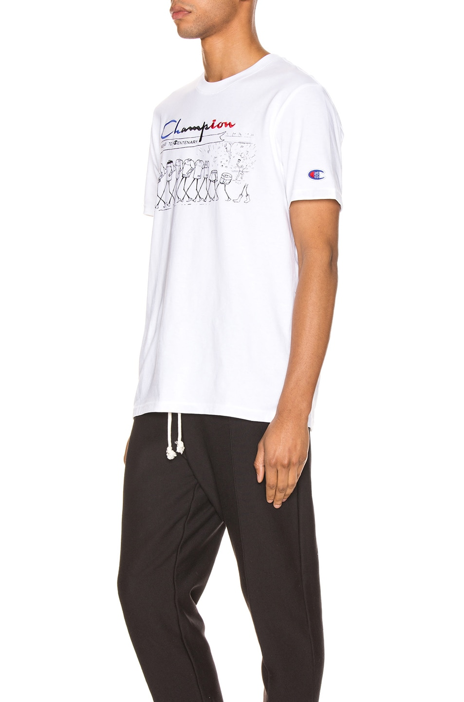 Image 3 of Champion Reverse Weave Centenary T-Shirt in White