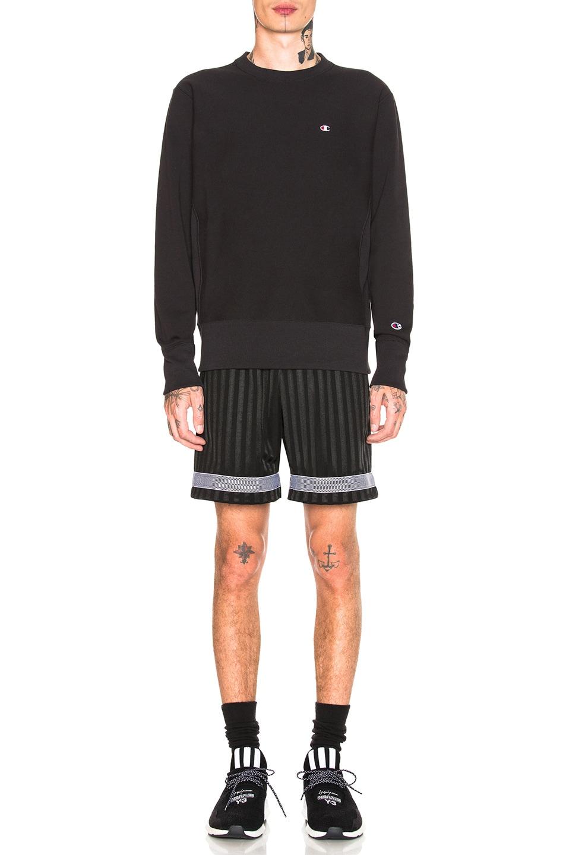 Image 4 of Champion Reverse Weave Crewneck Sweatshirt in Black