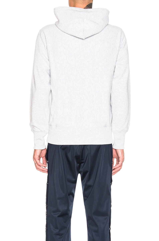 Image 3 of Champion Reverse Weave Hooded Sweatshirt in Grey