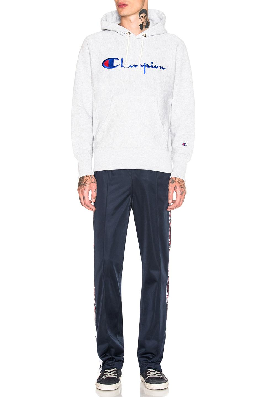 Image 4 of Champion Reverse Weave Hooded Sweatshirt in Grey