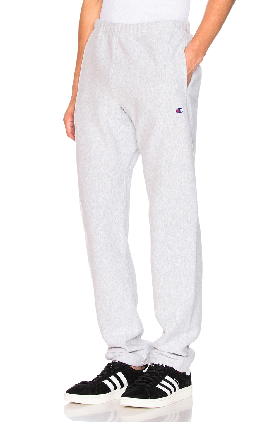 Image 1 of Champion Reverse Weave Elastic Cuff Pant in Grey