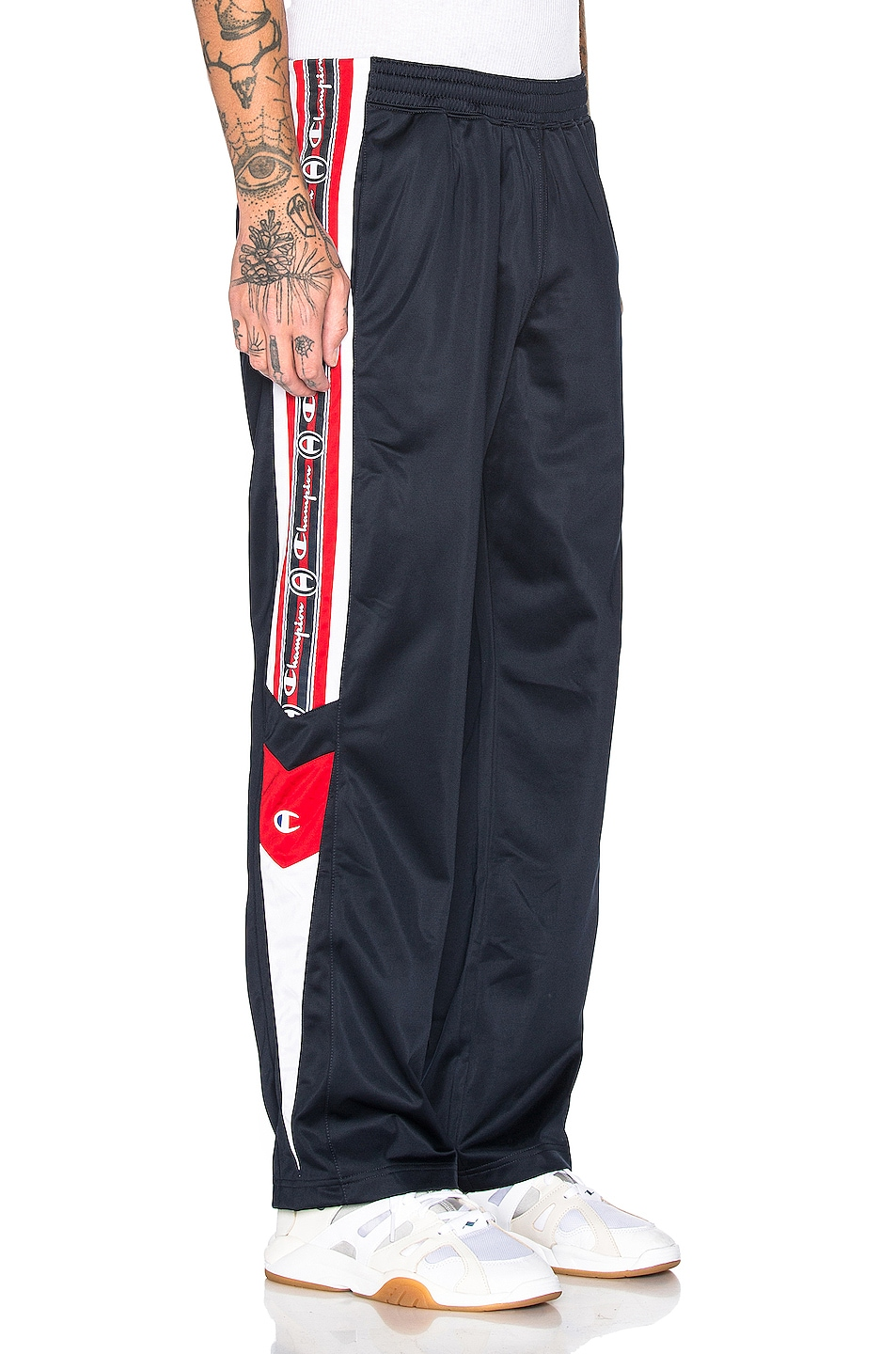 Image 3 of Champion Reverse Weave Champion Track Pants in Navy