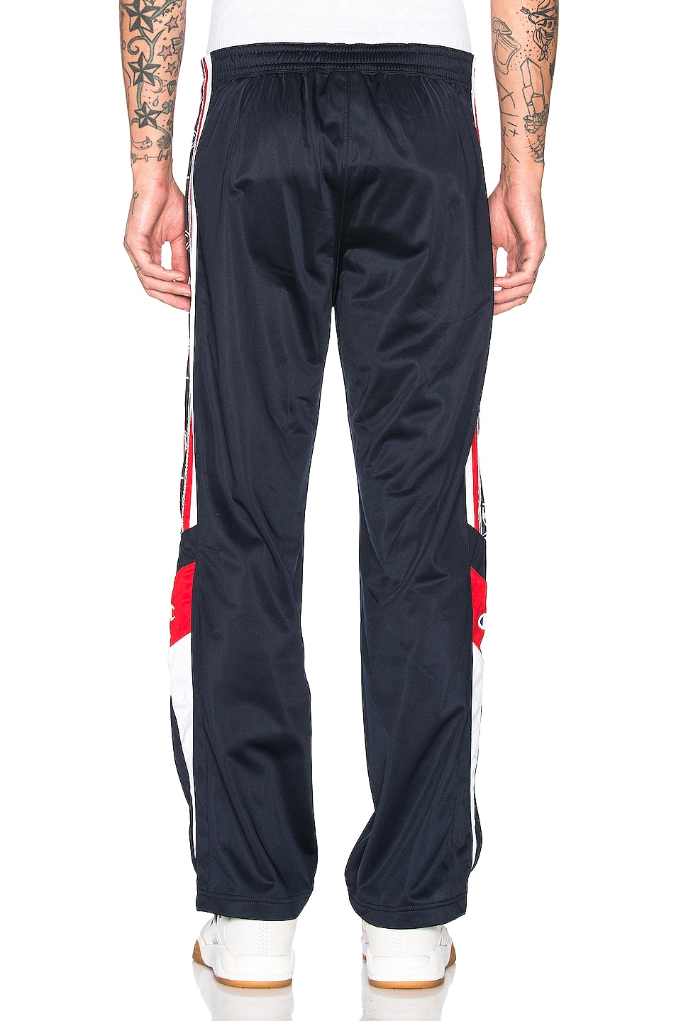 Image 4 of Champion Reverse Weave Champion Track Pants in Navy