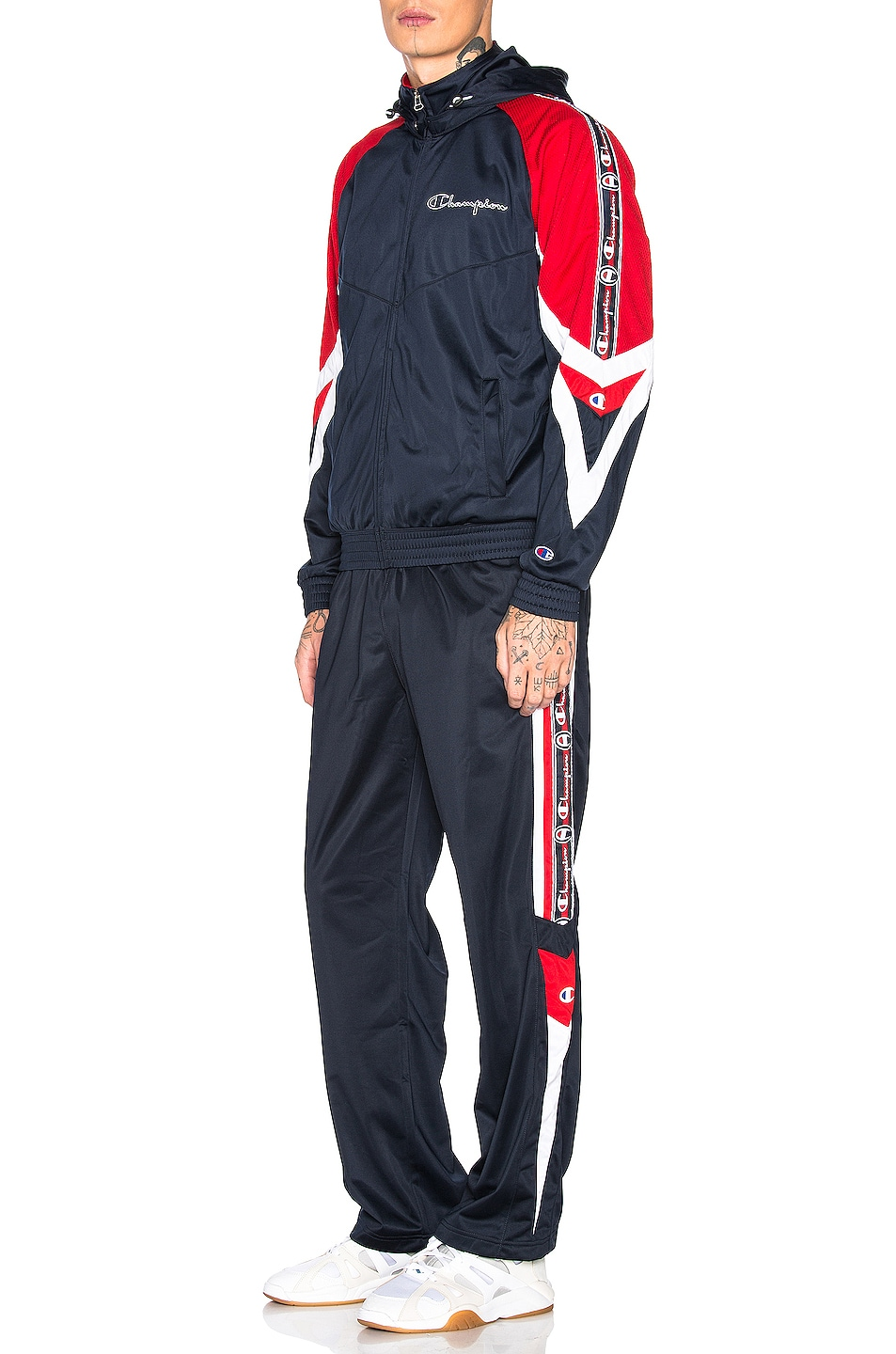 Image 5 of Champion Reverse Weave Champion Track Pants in Navy