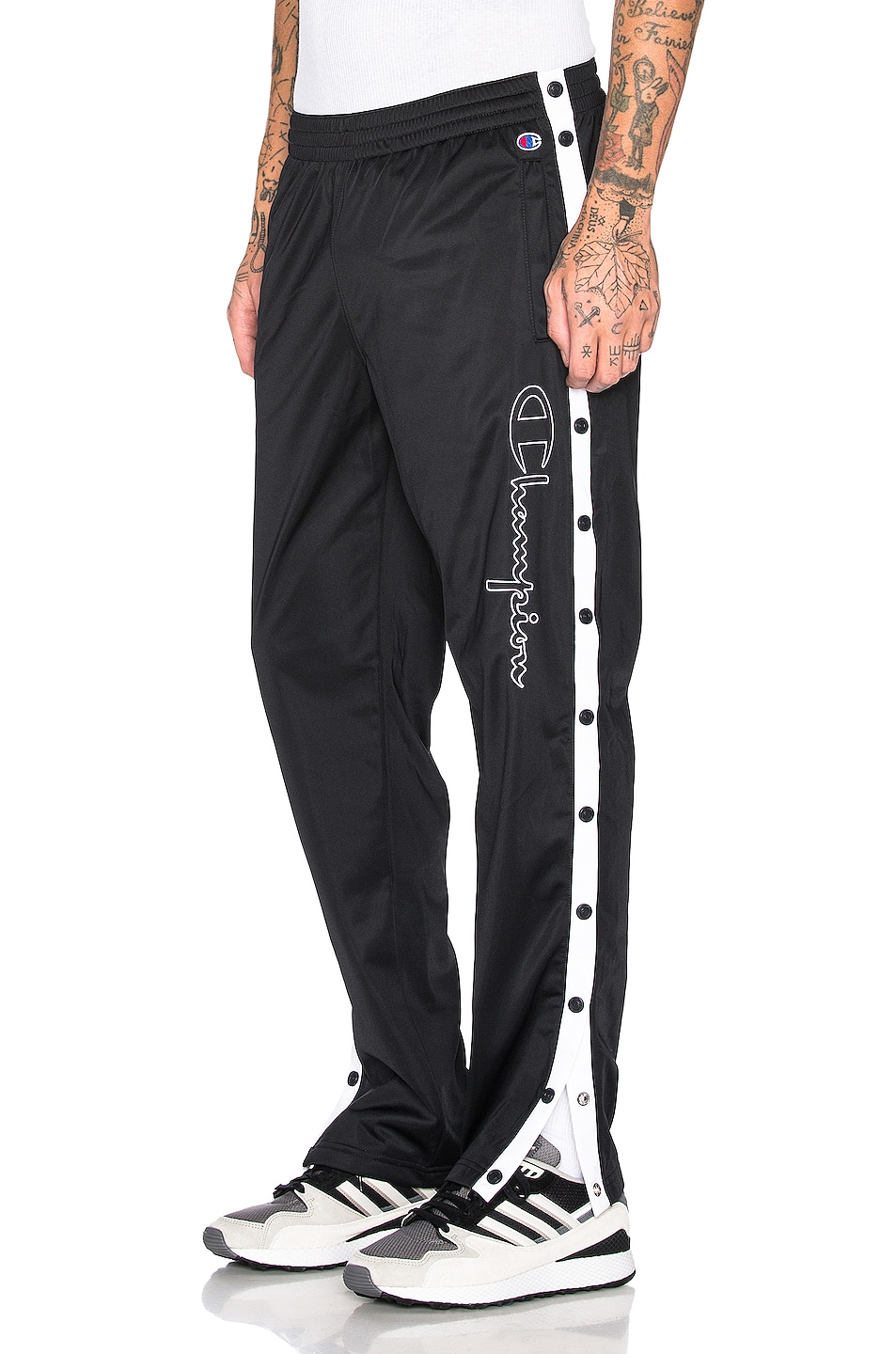Image 1 of Champion Reverse Weave Champion Pants in Black & White