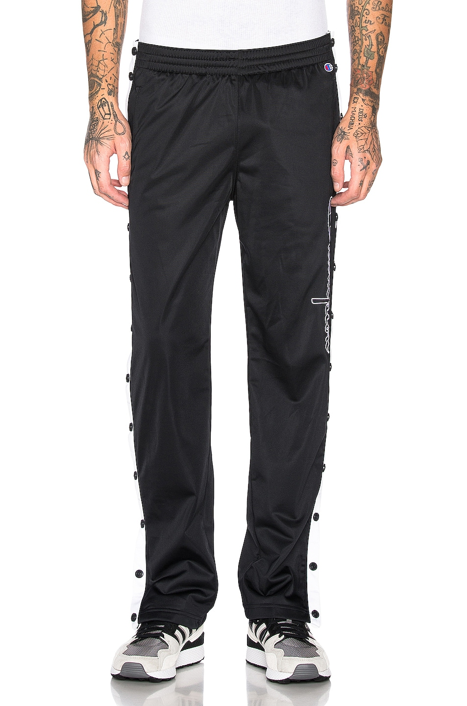 Image 2 of Champion Reverse Weave Champion Pants in Black & White