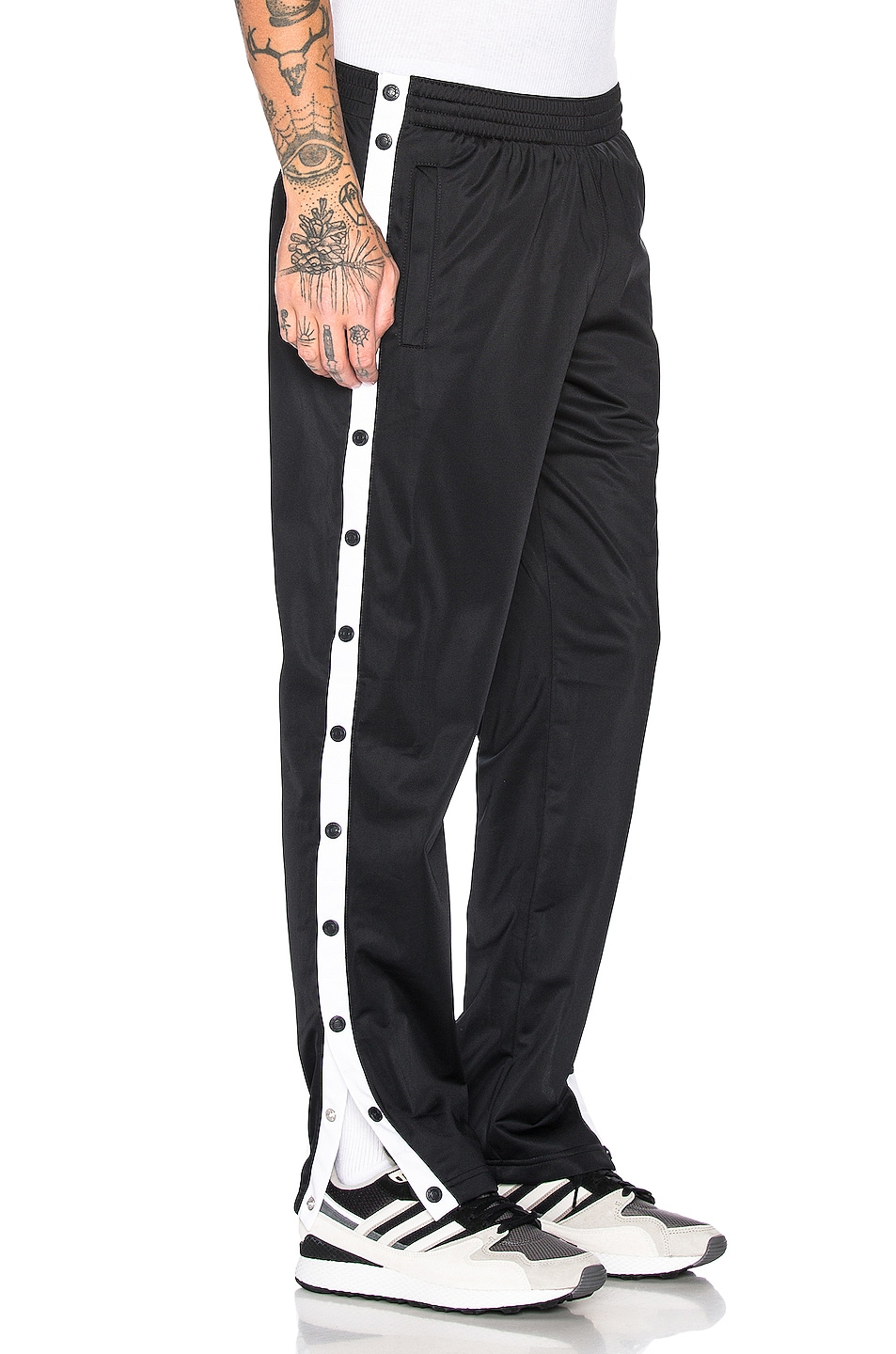 Image 3 of Champion Reverse Weave Champion Pants in Black & White