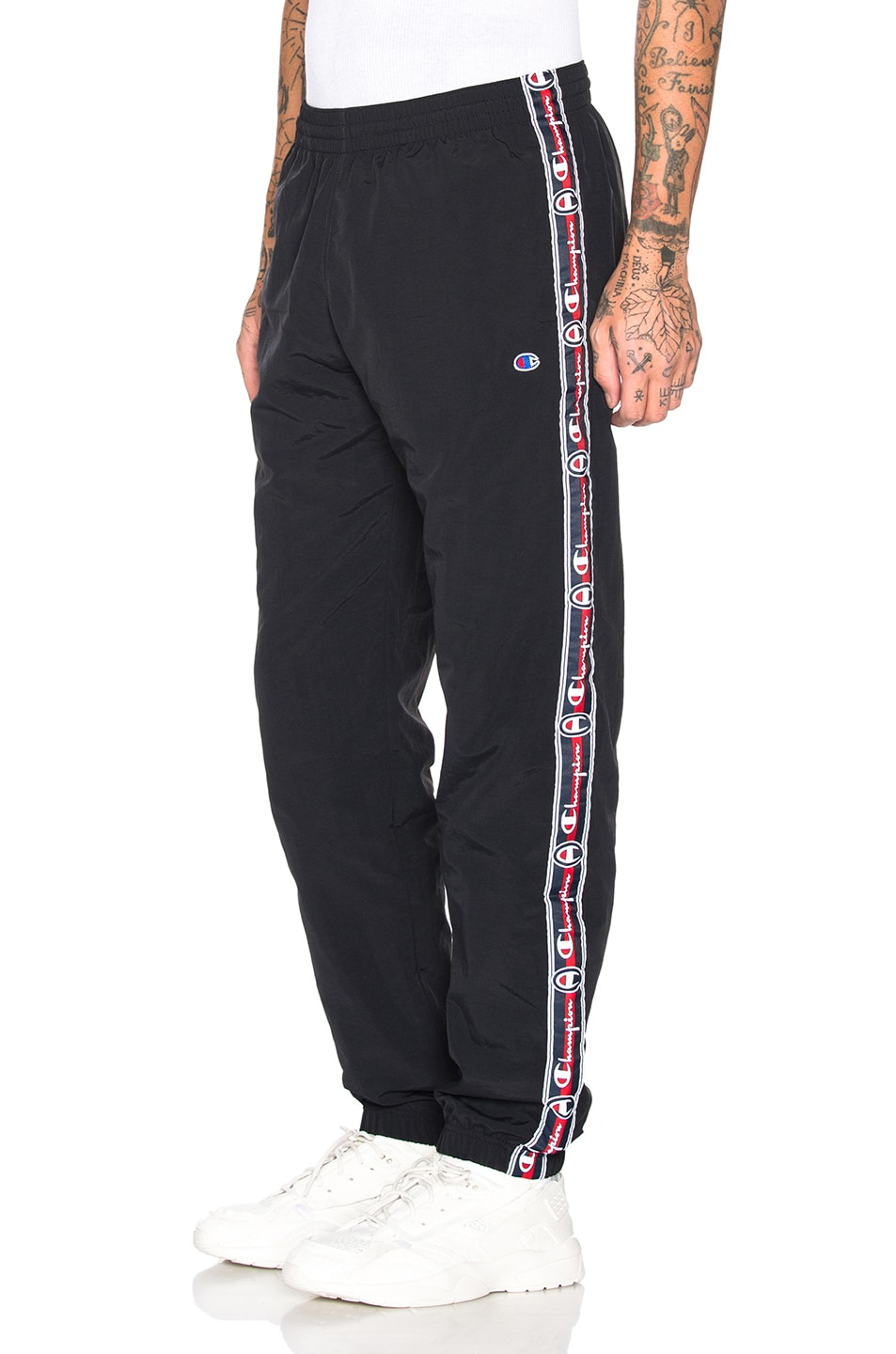 Image 1 of Champion Reverse Weave Champion Elastic Cuff Pants in Black