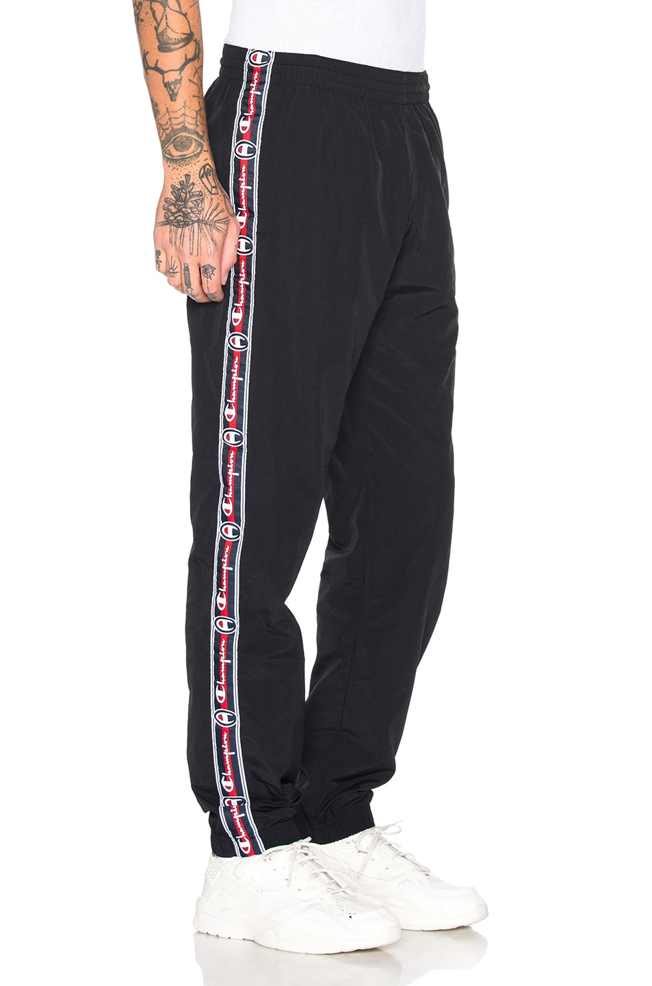 Image 3 of Champion Reverse Weave Champion Elastic Cuff Pants in Black