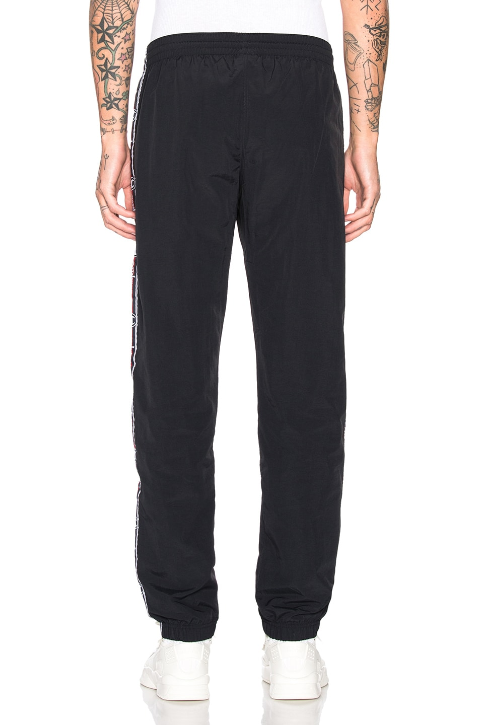 Image 4 of Champion Reverse Weave Champion Elastic Cuff Pants in Black