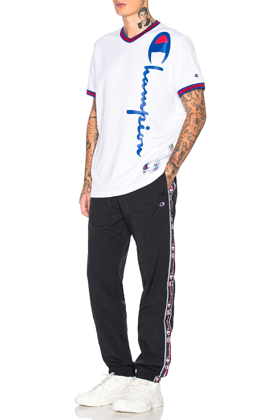 Image 5 of Champion Reverse Weave Champion Elastic Cuff Pants in Black