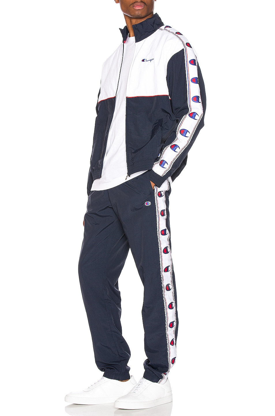 Image 5 of Champion Reverse Weave Elastic Cuff Pant in Navy