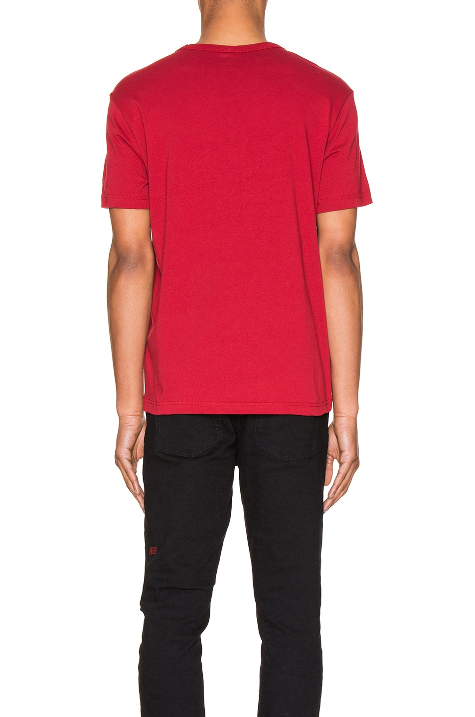 Image 4 of Champion Reverse Weave Small Script T-Shirt in Scarlet