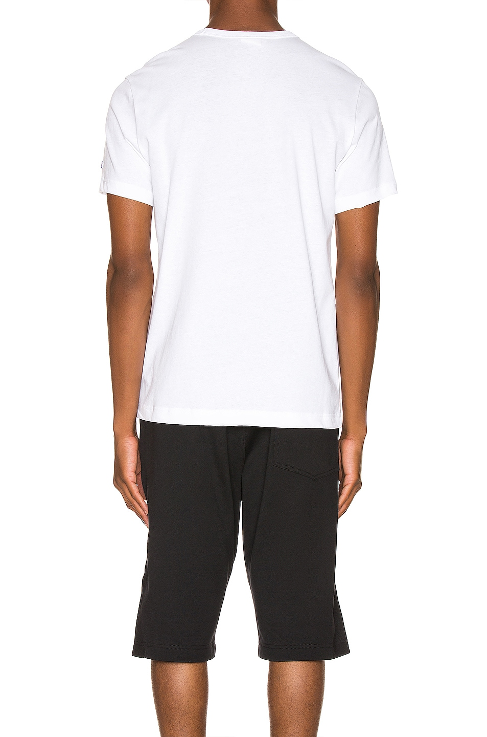 Image 4 of Champion Reverse Weave Big Script Tee in White