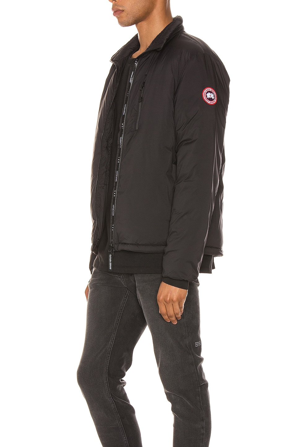 Image 4 of Canada Goose Lodge Jacket in Black