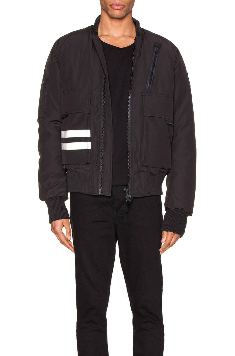 Image 1 of Canada Goose Black Label Kirkfield Bomber in Black