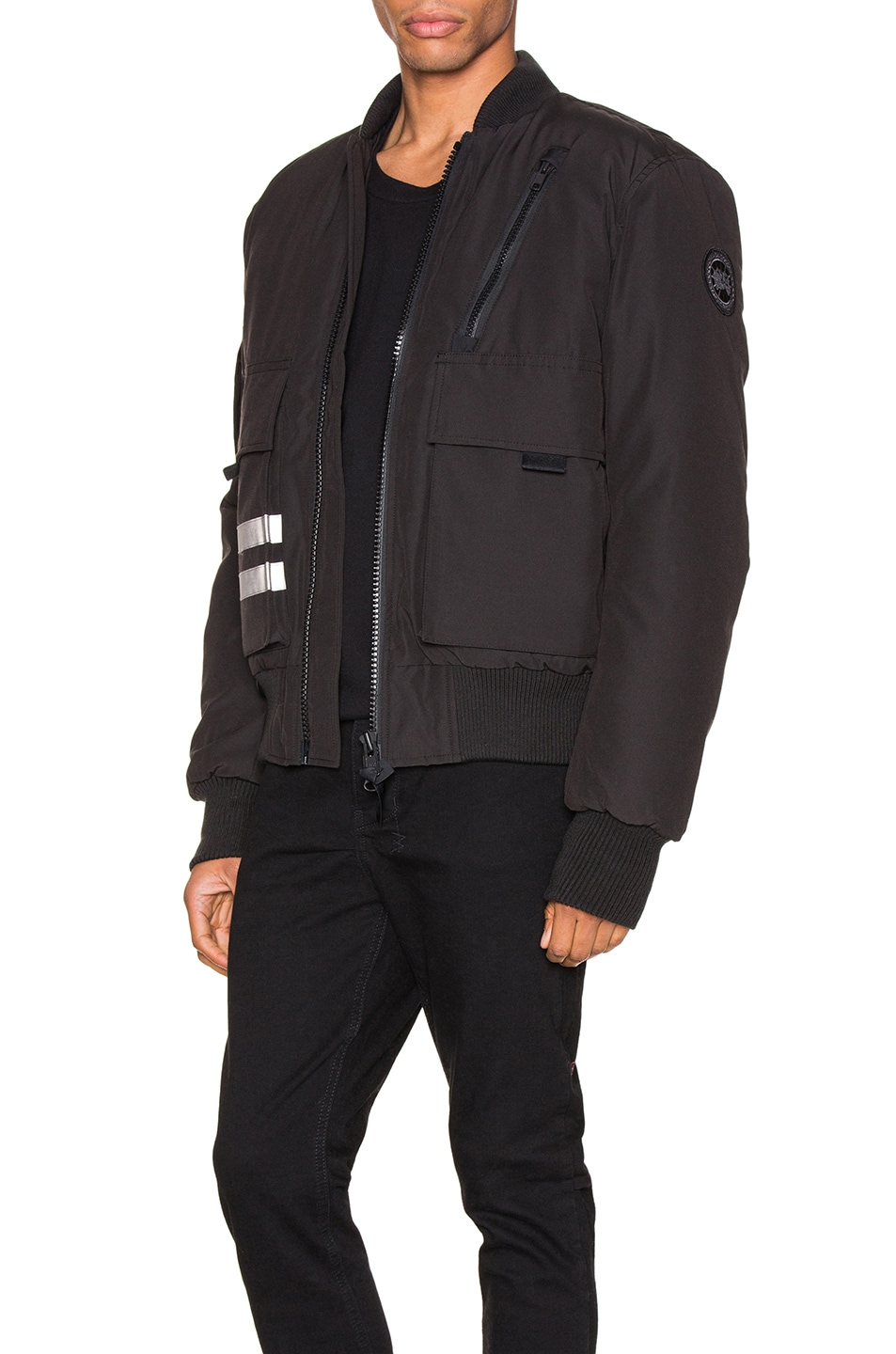 Image 4 of Canada Goose Black Label Kirkfield Bomber in Black