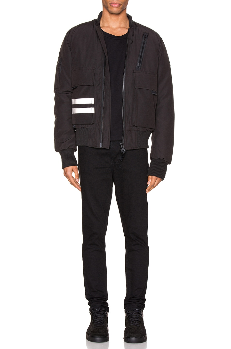 Image 6 of Canada Goose Black Label Kirkfield Bomber in Black