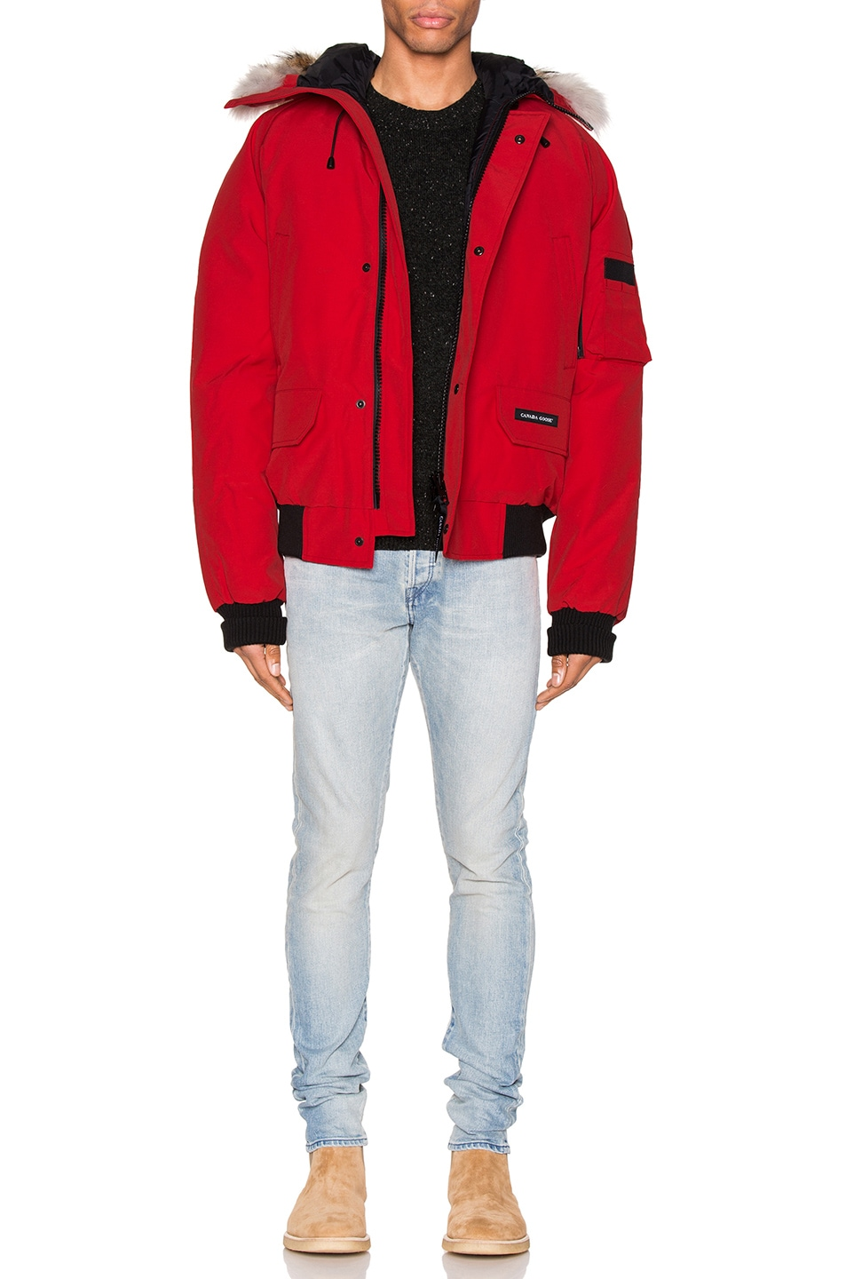Image 7 of Canada Goose Chilliwack Bomber in Red