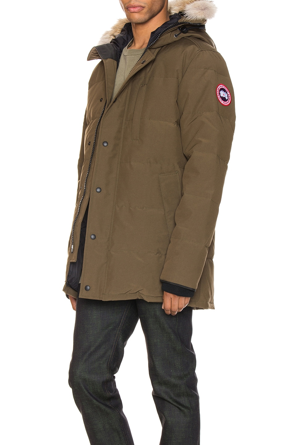 Image 4 of Canada Goose Carson Parka in Military Green