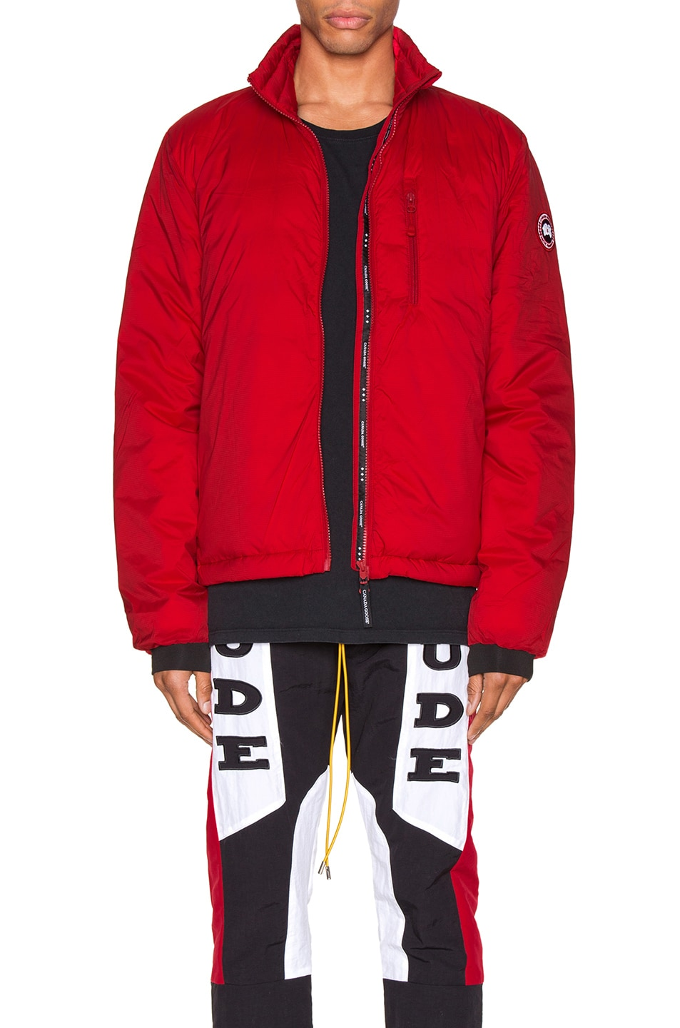 Image 1 of Canada Goose Lodge Jacket in Red