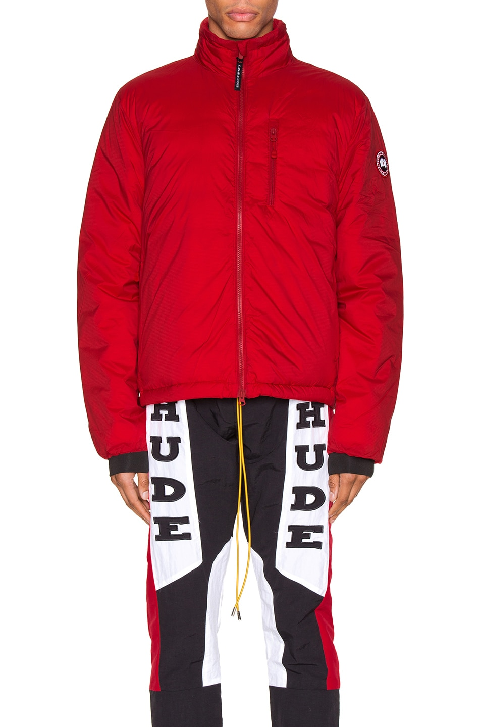 Image 2 of Canada Goose Lodge Jacket in Red
