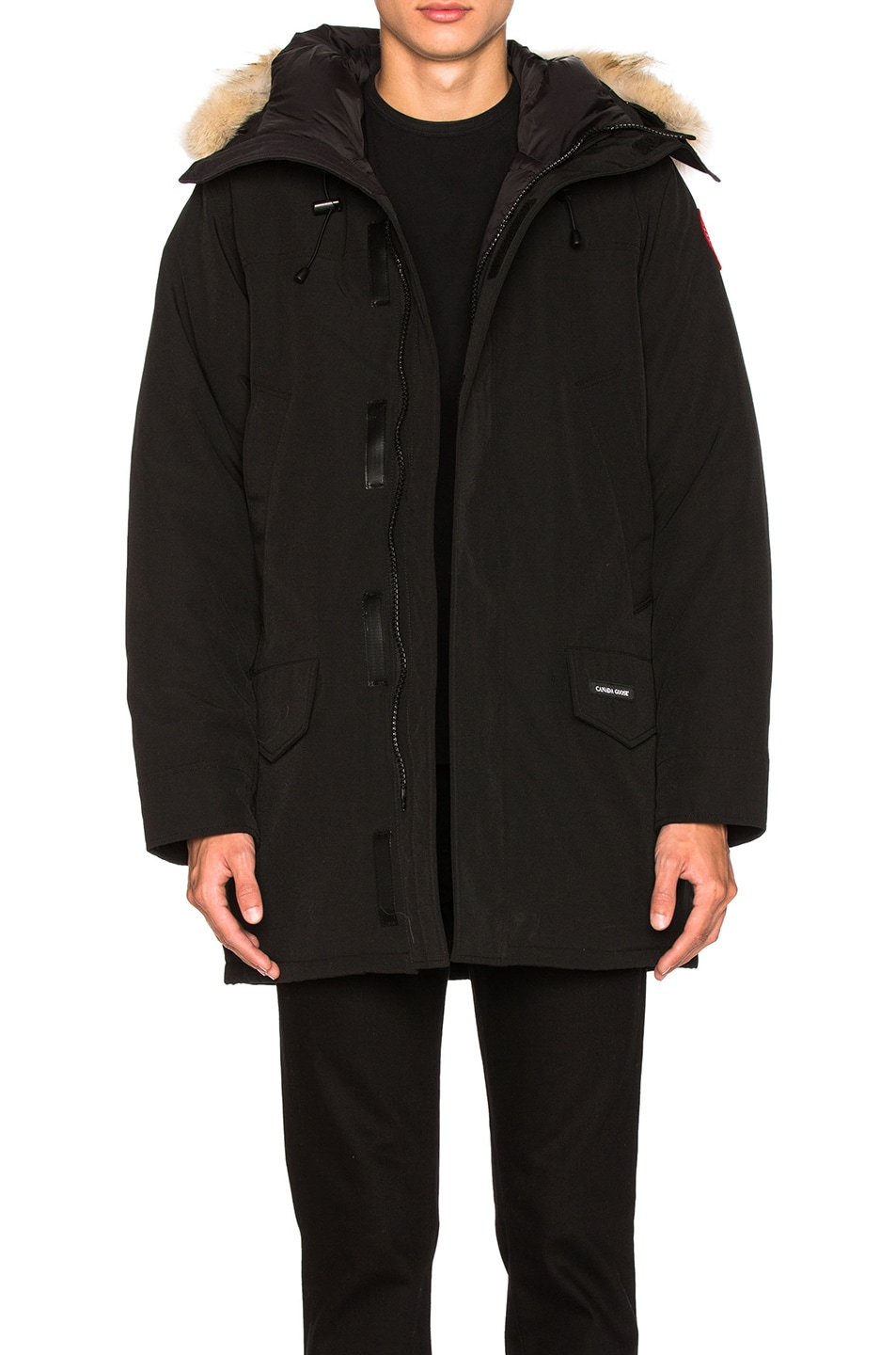 Image 1 of Canada Goose Langford Parka With Coyote Fur Trim in Black