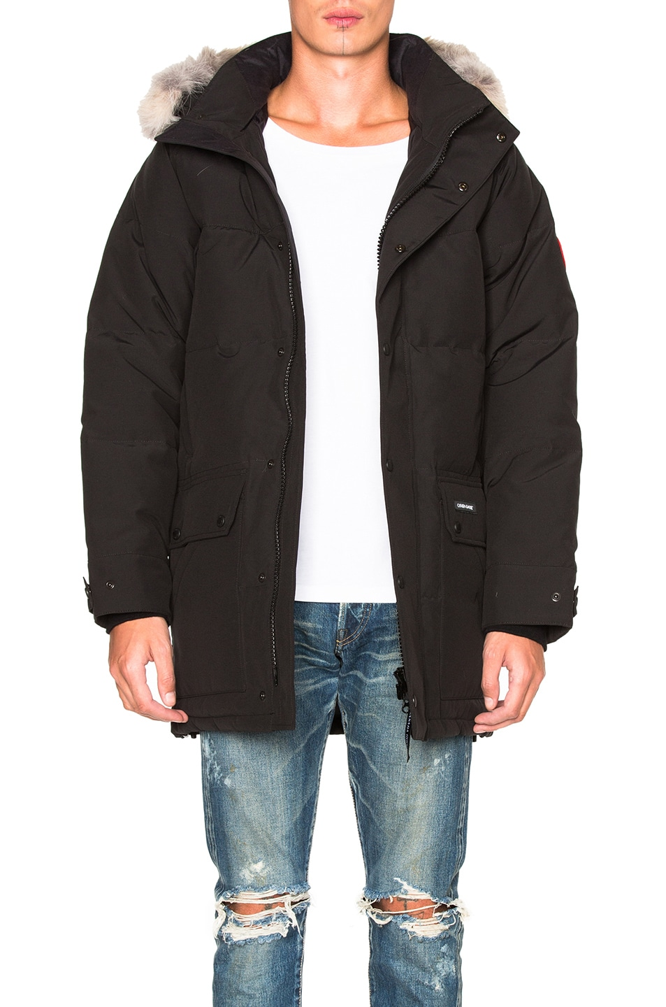 Image 1 of Canada Goose Emory Parka with Coyote Fur in Black
