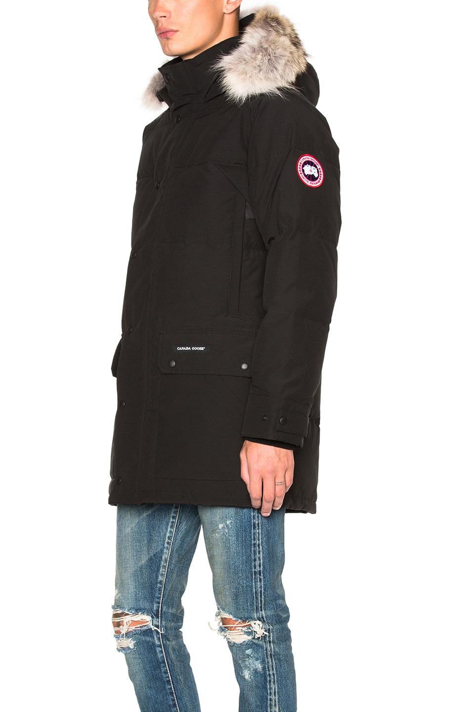 Image 3 of Canada Goose Emory Parka with Coyote Fur in Black