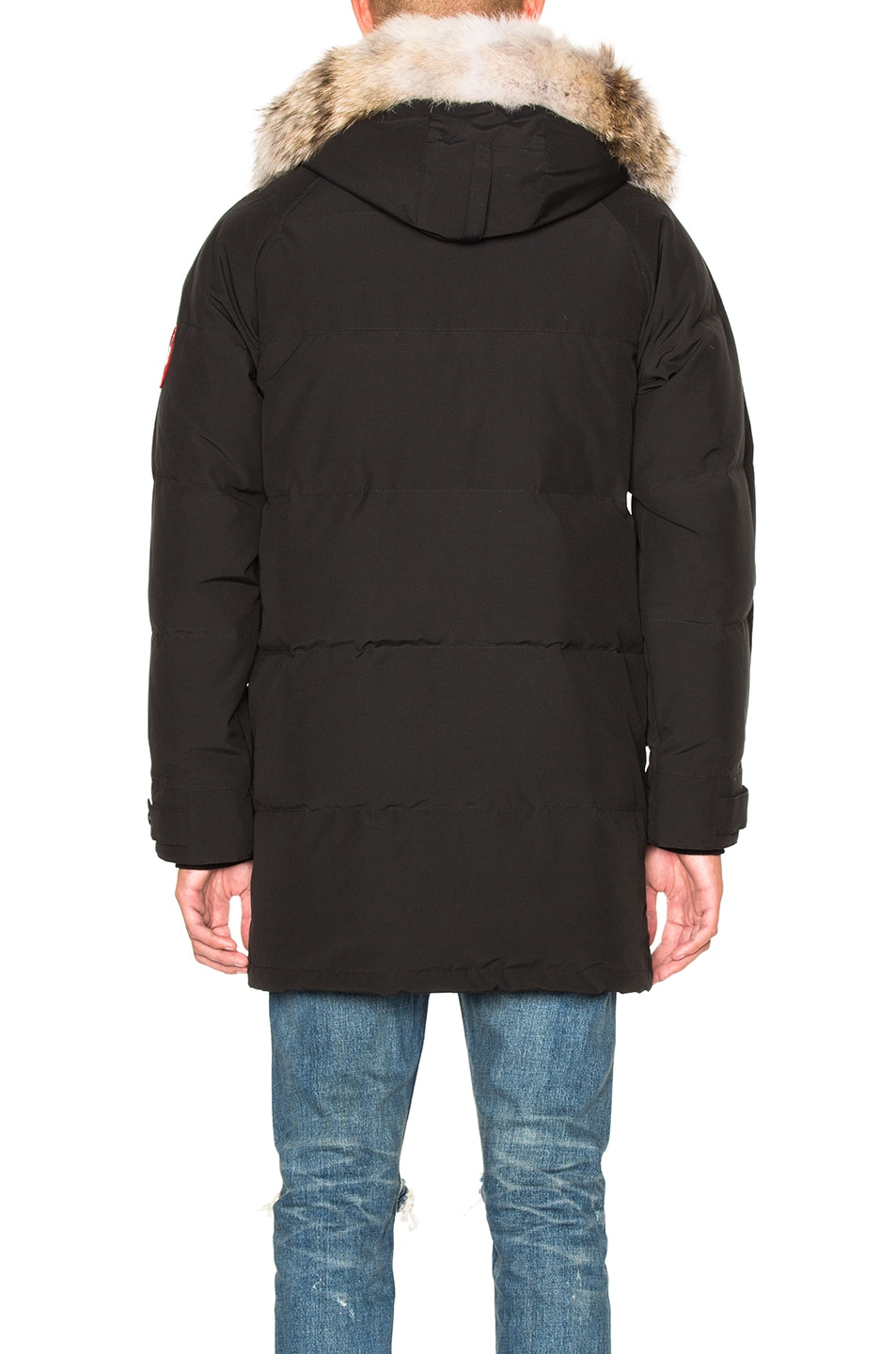 Image 6 of Canada Goose Emory Parka with Coyote Fur in Black