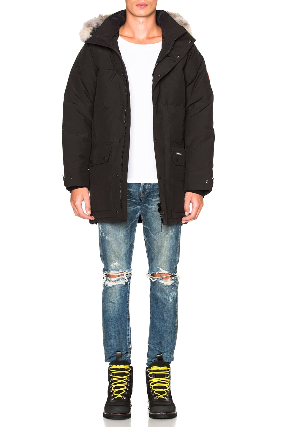 Image 7 of Canada Goose Emory Parka with Coyote Fur in Black